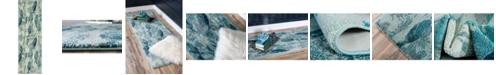 "Bridgeport Home Ikbal Ikb6 Light Blue 2' 2"" x 6' 7"" Runner Area Rug"
