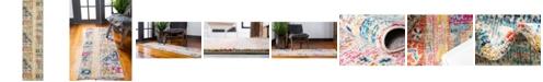 "Bridgeport Home Newhedge Nhg5 Multi 2' 7"" x 10' Runner Area Rug"