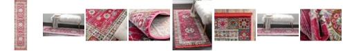 """Bridgeport Home Kenna Ken2 Pink 2' 7"""" x 10' Runner Area Rug"""