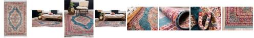 """Bridgeport Home Kenna Ken1 Turquoise 2' 2"""" x 3' Area Rug"""