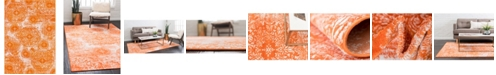 Bridgeport Home Basha Bas7 Orange 6' x 9' Area Rug