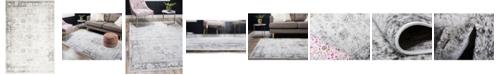 Bridgeport Home Basha Bas1 Gray 6' x 9' Area Rug