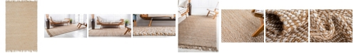 Bridgeport Home Braided Tones Brt3 Natural/White 6' x 9' Area Rug