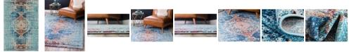Bridgeport Home Brio Bri6 Turquoise 7' x 10' Area Rug
