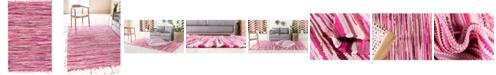 Bridgeport Home Jari Striped Jar1 Pink 5' x 8' Area Rug