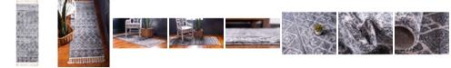 "Bridgeport Home Levia Lev1 Dark Gray 2' 4"" x 6' Runner Area Rug"
