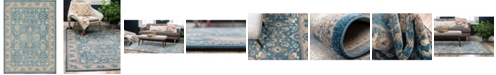Bridgeport Home Bellmere Bel6 Light Blue 7' x 10' Area Rug