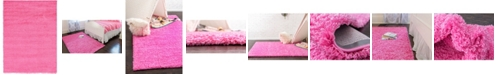 Bridgeport Home Exact Shag Exs1 Taffy Pink 8' x 11' Area Rug