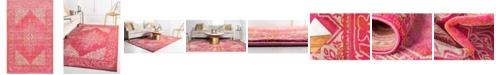 Bridgeport Home Aroa Aro8 Pink 5' x 8' Area Rug