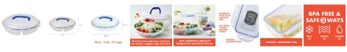 Lock n Lock Easy Essentials Specialty Divided 77-Oz. Snack Container