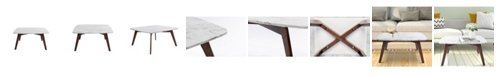 Cenports Vezzana Square Marble Coffee Table