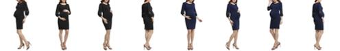 kimi + kai Cate Maternity Belted Midi Dress