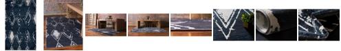 Jill Zarin Carnegie Hill Uptown Jzu006 Navy Blue 5' x 8' Area Rug