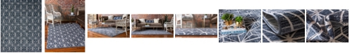 Jill Zarin Fifth Avenue Uptown Jzu002 Navy Blue 8' x 10' Area Rug
