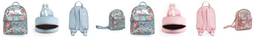 OMG! Accessories Rose Print Metallic Mini Backpack
