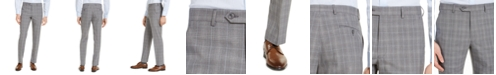 Michael Kors Men's Classic-Fit Airsoft Stretch Gray Plaid Suit Pants