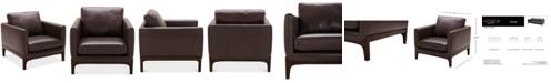 "Furniture Yazlan 35"" Leather Chair"