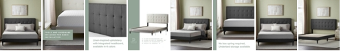 Dream Collection Upholstered Platform Bed Frame with Square Tufted Headboard, Queen