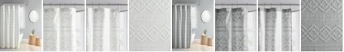 "Intelligent Design Annie Clipped Jacquard Seersucker Shower Curtain, 72"" W x 72"" L"