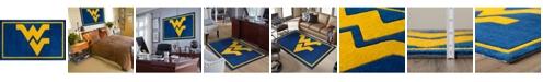 "Luxury Sports Rugs West Virginia Colwv Blue 3'2"" x 5'1"" Area Rug"
