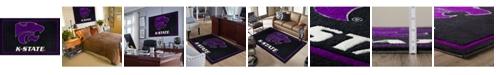 "Luxury Sports Rugs Kansas State Colks Black 5' x 7'6"" Area Rug"