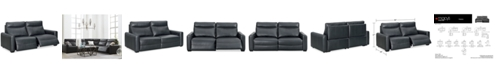Furniture Marzia Leather 2-Pc. Sectional with 2 Power Recliners, Created for Macy's