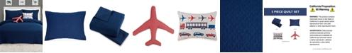 Urban Playground Airplane 5-Pc. Full/Queen Quilt Set