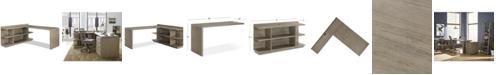 Furniture Ridgeway Home Office Return Desk, 2-Pc. (Return Desk & Peninsula USB Outlet Bookcase), Created for Macy's