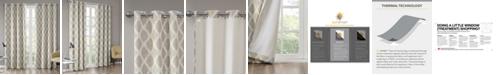 "SunSmart Blakesly 50"" x 63"" Textured Ogee Ikat-Print Blackout Window Panel"