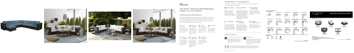 Furniture Viewport Outdoor 8-Pc. Modular Seating Set (3 Corner Units, 4 Armless Units and 1 Ottoman),with Custom Sunbrella® Cushions, Created for Macy's