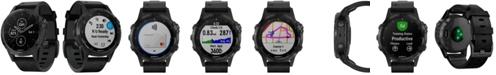 Garmin Unisex fenix® 5 Plus Black Leather Strap Smart Watch 47mm