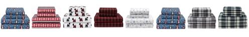 Elite Home Winter Nights Cotton Flannel Queen Sheet Set