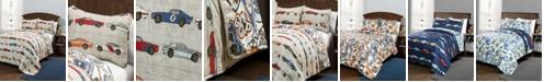 Lush Decor Race Cars Reversible 3-Piece Full/Queen Quilt Set