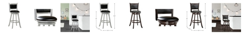 Belle Isle Furniture Charleston Swivel Bar Stool Vinyl Fabric