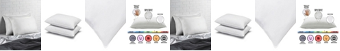 Ella Jayne Overstuffed Plush Allergy Resistant Gel Filled Side/Back Sleeper Pillow - Set of Two - Standard