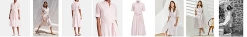 Lauren Ralph Lauren Belted Cotton Shirtdress