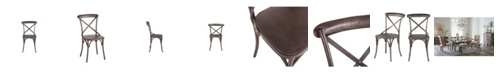 World Interiors Anderson Reclaimed Iron Dining Chairs, Set of 2