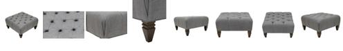 MJL Furniture Designs Blake Diamond Tufted Square Upholstered Ottoman