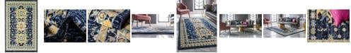 Bridgeport Home Charvi Chr1 Navy Blue 5' x 8' Area Rug