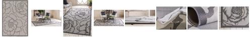 Bridgeport Home Pashio Pas4 Gray 7' x 10' Area Rug