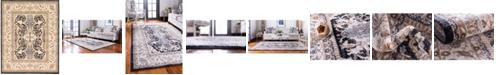 Bridgeport Home Wisdom Wis2 Black 8' x 10' Area Rug
