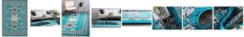 Bridgeport Home Charvi Chr1 Turquoise 7' x 10' Area Rug