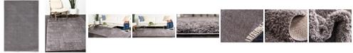 Bridgeport Home Salon Solid Shag Sss1 Dark Gray 4' x 6' Area Rug