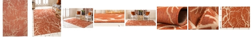 Bridgeport Home Pashio Pas6 Terracotta 6' x 9' Area Rug