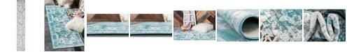 Bridgeport Home Basha Bas2 Turquoise 2' x 13' Runner Area Rug