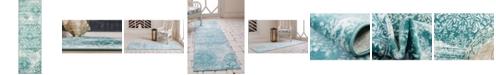 """Bridgeport Home Basha Bas7 Turquoise 2' x 6' 7"""" Runner Area Rug"""