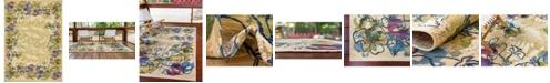 "Bridgeport Home Pashio Pas1 Ivory 8' x 11' 4"" Area Rug"