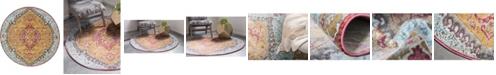 """Bridgeport Home Kenna Ken1 Gold 5' 5"""" x 5' 5"""" Round Area Rug"""