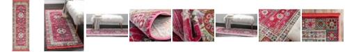 """Bridgeport Home Kenna Ken2 Pink 2' 2"""" x 6' Runner Area Rug"""