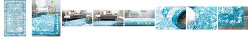 Bridgeport Home Mishti Mis3 Blue 5' x 8' Area Rug